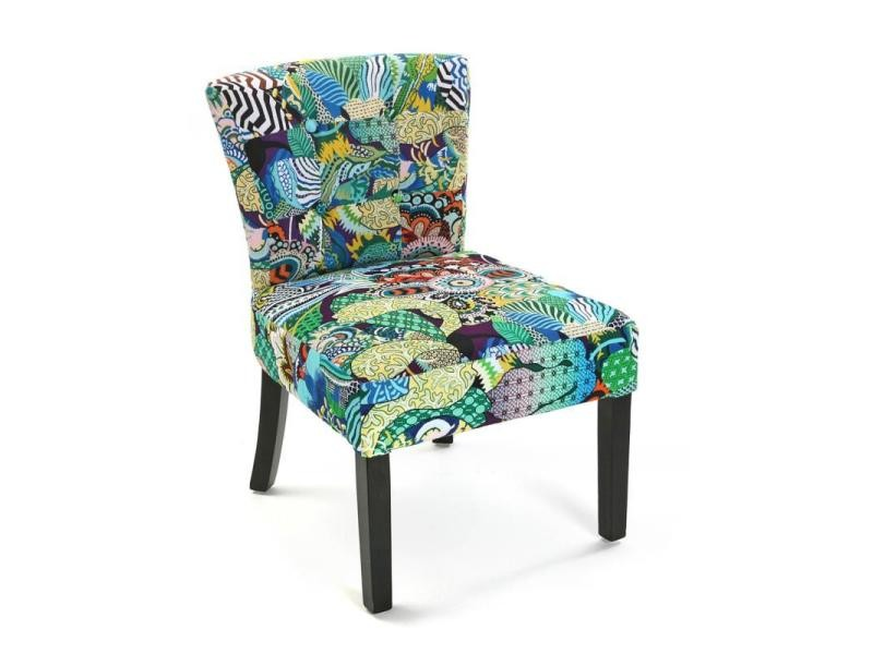 fauteuil patchwork tropic turquoise vente de tous les. Black Bedroom Furniture Sets. Home Design Ideas