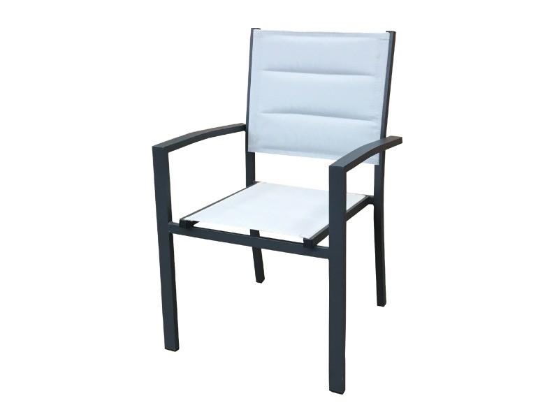 Chaise de jardin chillvert sicilia aluminium/textilene empilable 57x58x90 KCH150