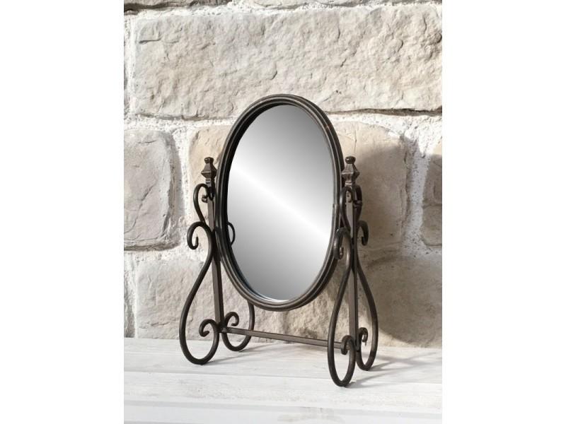miroir psych inclinable poser de coiffeuse en fer cm 10424 vente de miroir sur pied