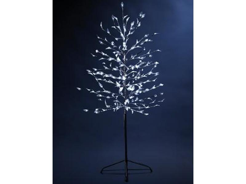 Arbre extérieur lumineux en acrylique argent - dim : l75 x h150 cm.-pegane-