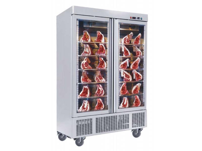 Armoire de maturation réfrigérée 2 portes vitrées - 1300 litres - r290 vitrée