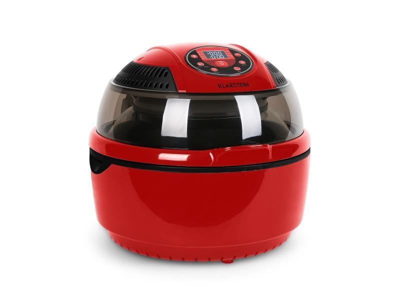 Klarstein vitair fryer friteuse sans huile à air chaud 1400w timer -rouge