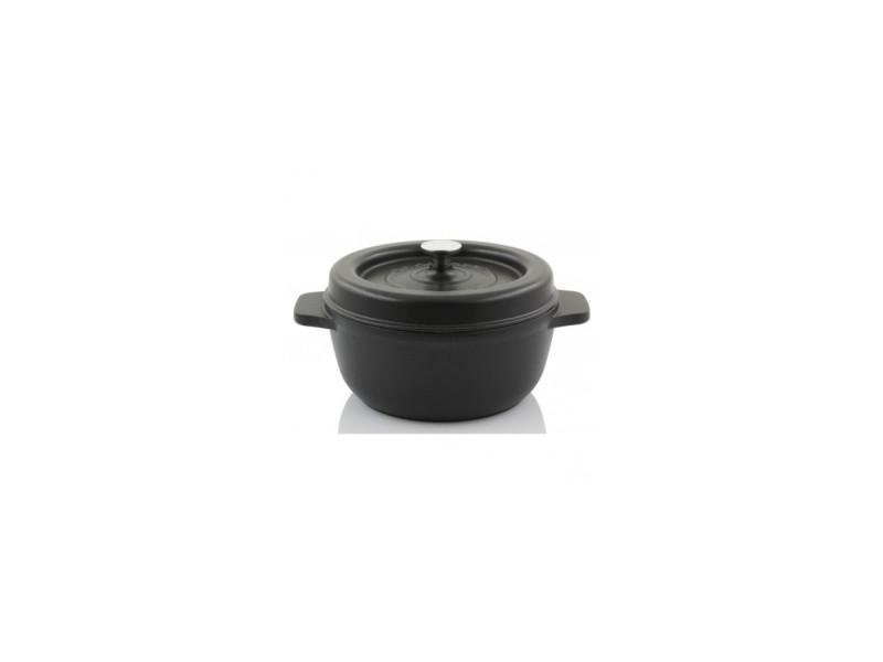 Cocotte ronde d17 noir satine CDP-850001000059