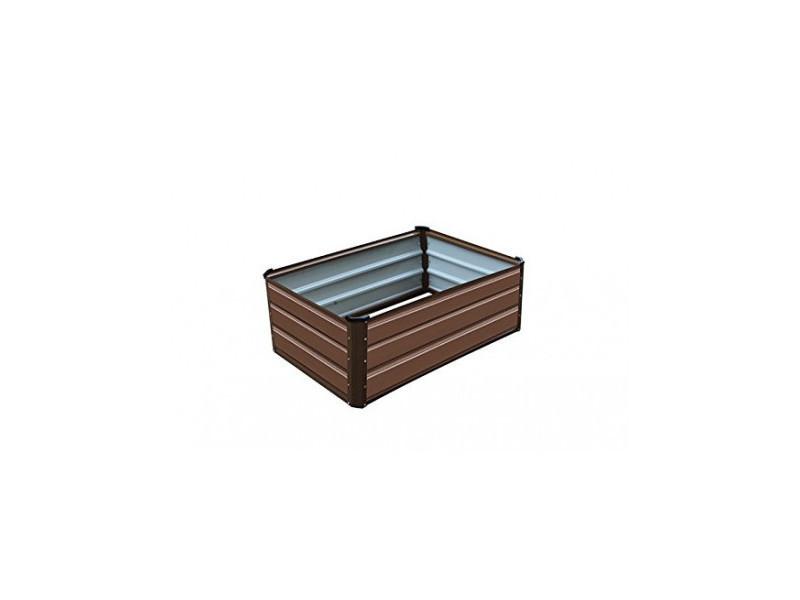 Carré potager gardiun grove cuber iii métal 50x30x38 cm