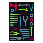 Tapis pour enfant motifs outils, 100 cm x 150 cm -pegane-