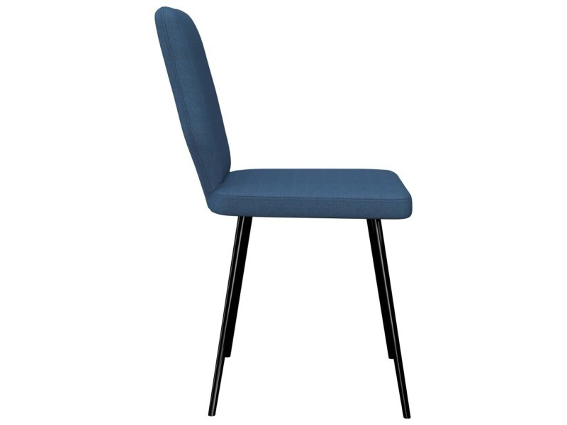 Vidaxl chaises de salle à manger 6 pcs bleu tissu 279470 - Vente de VIDAXL J1YaP