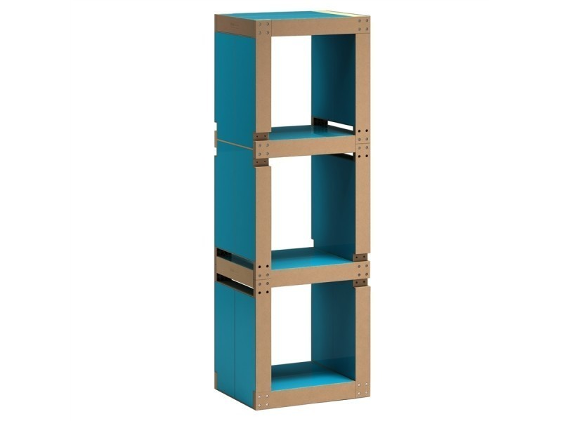 biblioth que colonne modulable en bois polym re vente de fabulem conforama. Black Bedroom Furniture Sets. Home Design Ideas