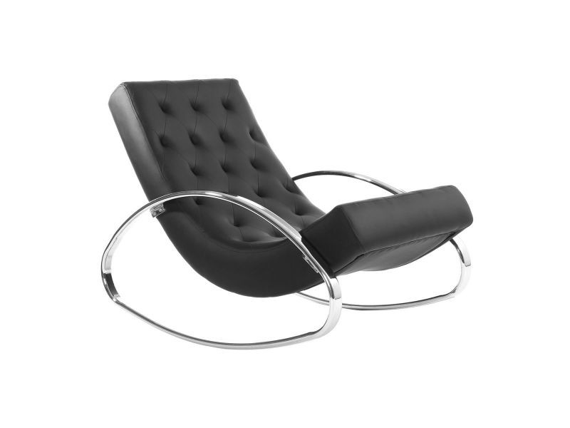 Rocking chair design noir chesty