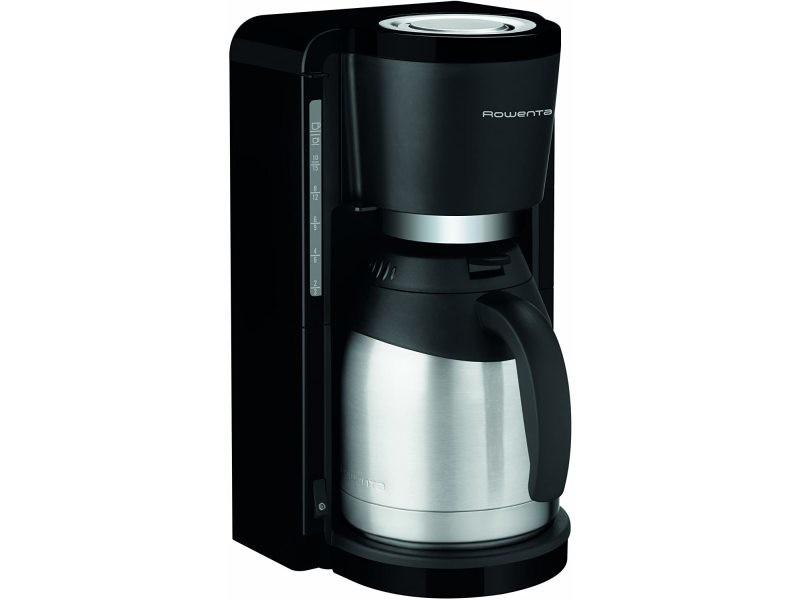 Cafetière électrique pour 10 a 15 tasses avec verseuse isotherme 800w gris noir