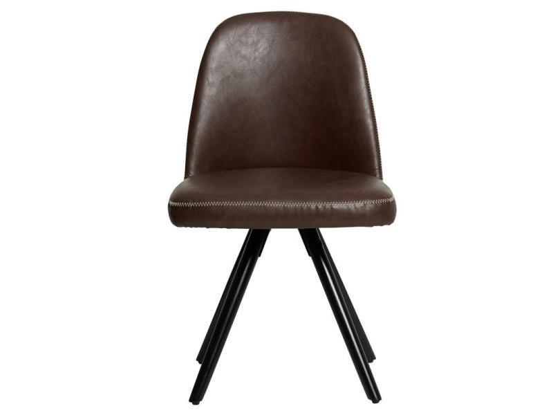 cuir chocolat l 51 Duo 49 de simili l chaises clement x ymOvNnw80P