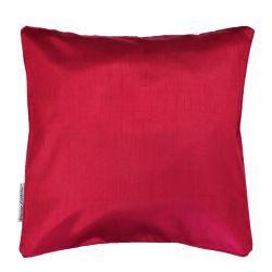 Housse de coussin polyester shantung uni shana rouge 40 x 40 cm