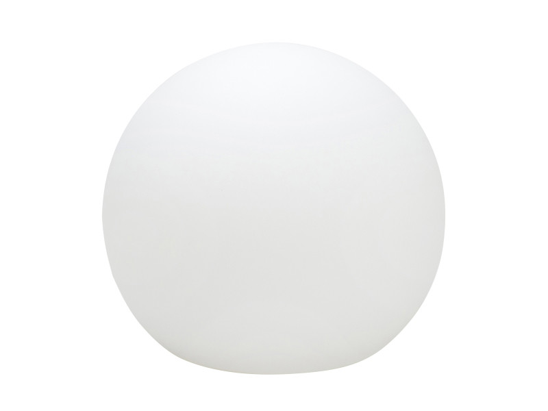 Boule lumineuse globe (d50cm) en polyéthylène blanc