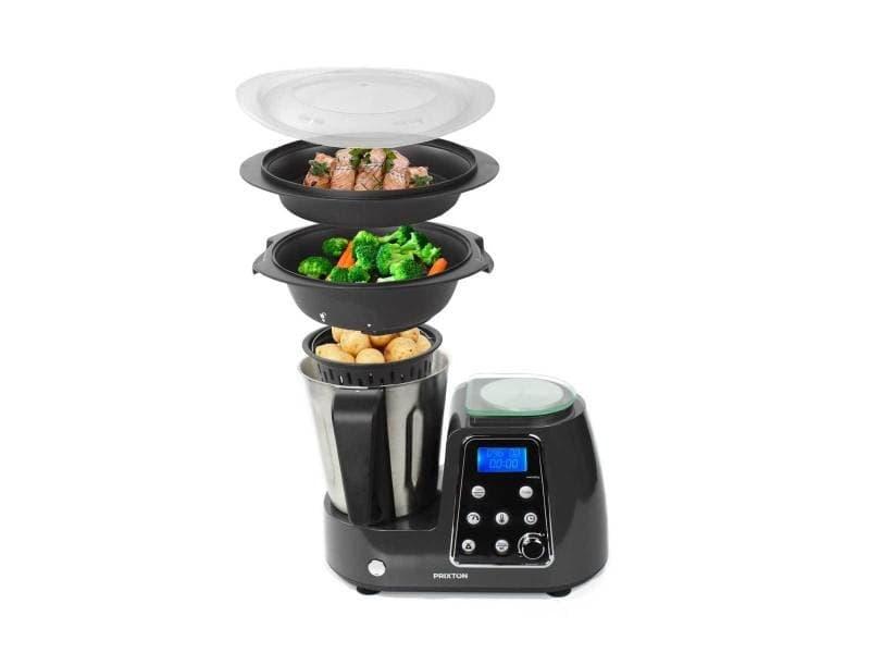 Robot de cuisine cuisine gourmet kg200 prixton accessoires et livre de recettes inclus