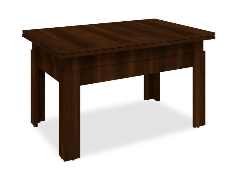 Table basse relevable flytigo bois noisette