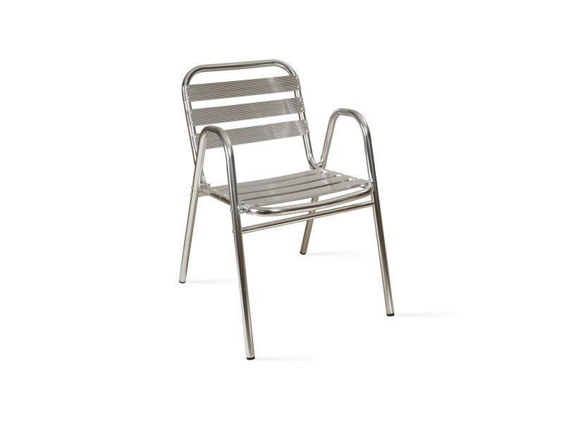 Chaise de jardin aluminium empilable
