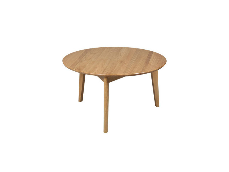 Table basse ronde en chêne massif - trendy