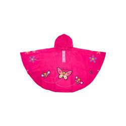 Poncho papillon rose pour enfant 3 à 6 ans