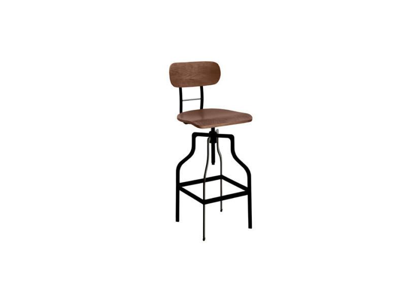 chaise de bar retro bois 66 85 cm vente de bar et. Black Bedroom Furniture Sets. Home Design Ideas