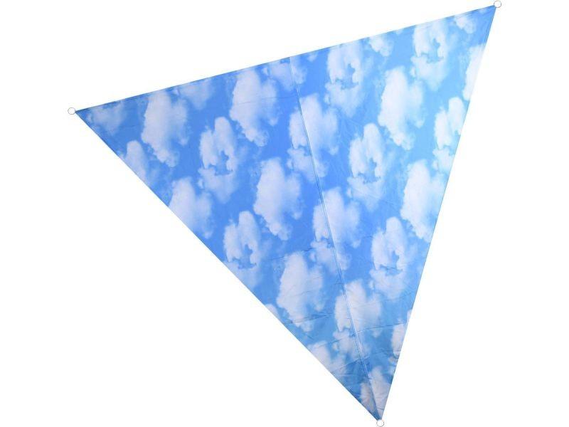 Voile d'ombrage triangulaire avec sac de rangement motif ciel 428861