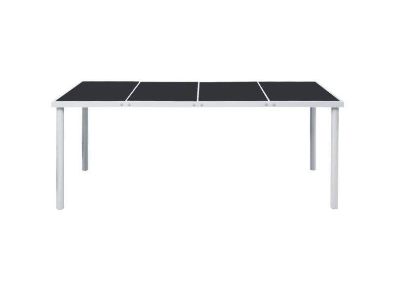 Icaverne - tables d'extérieur collection table de salle à manger d'extérieur 190 x 90 x 74 cm noir