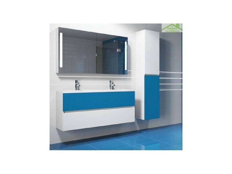 Ensemble meuble & lavabo riho cambio sentito set 27 140x48x h 57 cm - bois laqué brillant FSI140Z01DDDS27