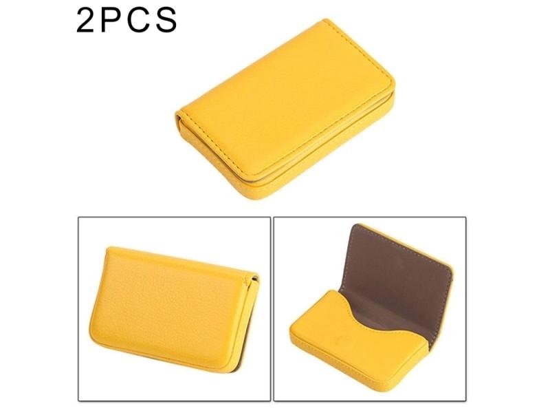 Carte Pcs Premium.Porte Cartes Jaune 2 Pcs Premium Pu Cuir Avec Fermeture