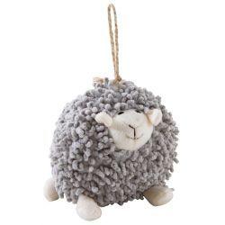 Mouton à suspendre en coton gris shaggy