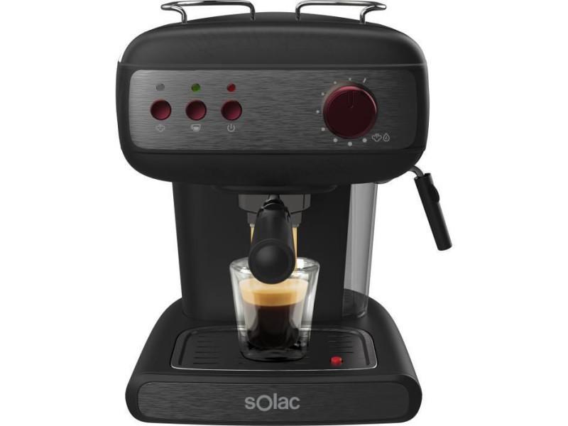 Solac stillo 20 bar - machine a expresso - 850w - 20 bars - systeme extra cream- buse vapeur - réservoir 1,5l - noir