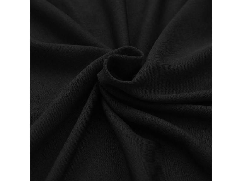 Icaverne - housses selection housses extensibles pour table 2 pièces 183 x 76 x 74 cm noir