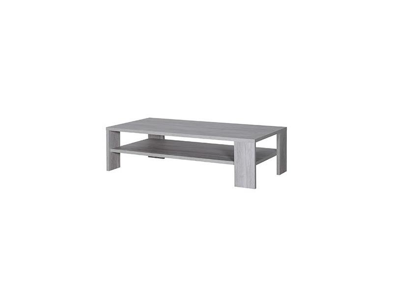 Table basse 130 cm en bois grisé - gregoria