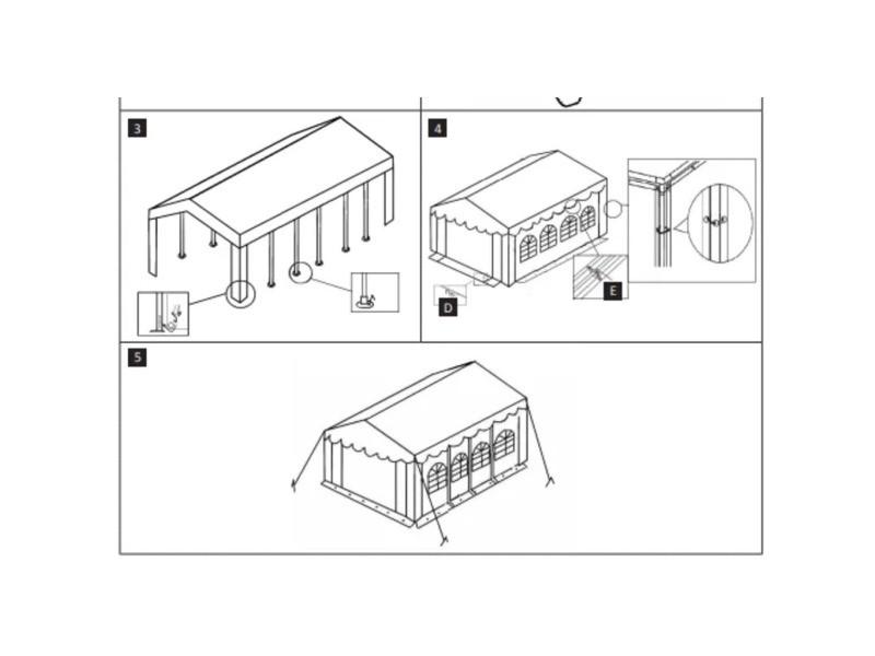 Icaverne - bâches de auvents et abris collection tissu de tente 6x14 m blanc