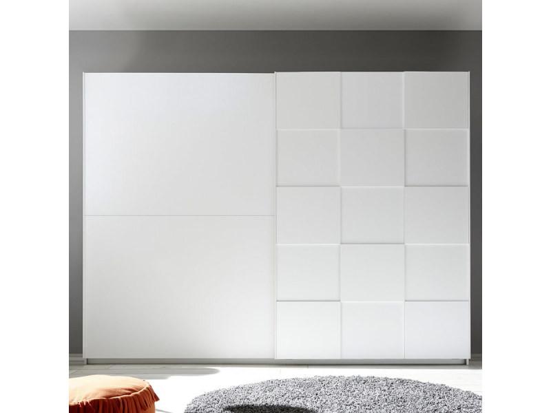 Armoire 275 cm design blanc laqué tiavano