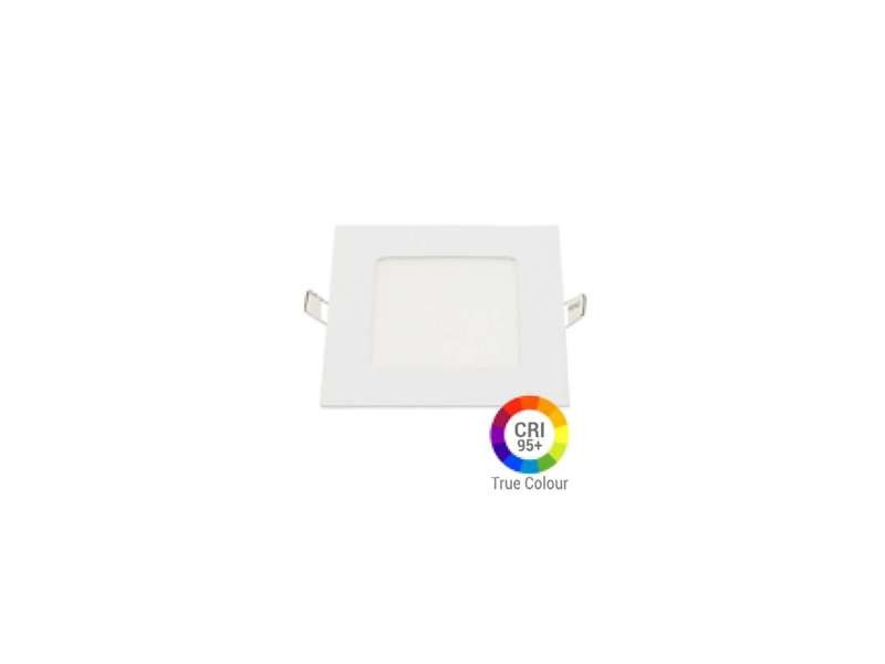 Plafonnier led carré 6w extra plat encastrable irc95 - blanc chaud 2700k DL2616