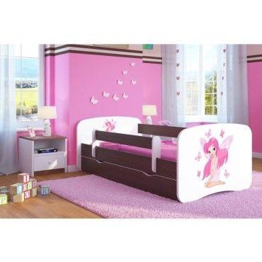lit enfant fee papillon 70 cm x 140 cm avec barriere de. Black Bedroom Furniture Sets. Home Design Ideas