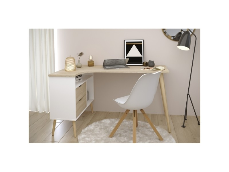 Bureau D Angle Style Scandinave Gamme Norsk L 145 X P 81