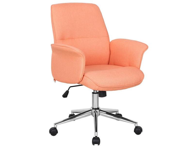 Chaise de bureau jary orange vente de fauteuil de bureau conforama