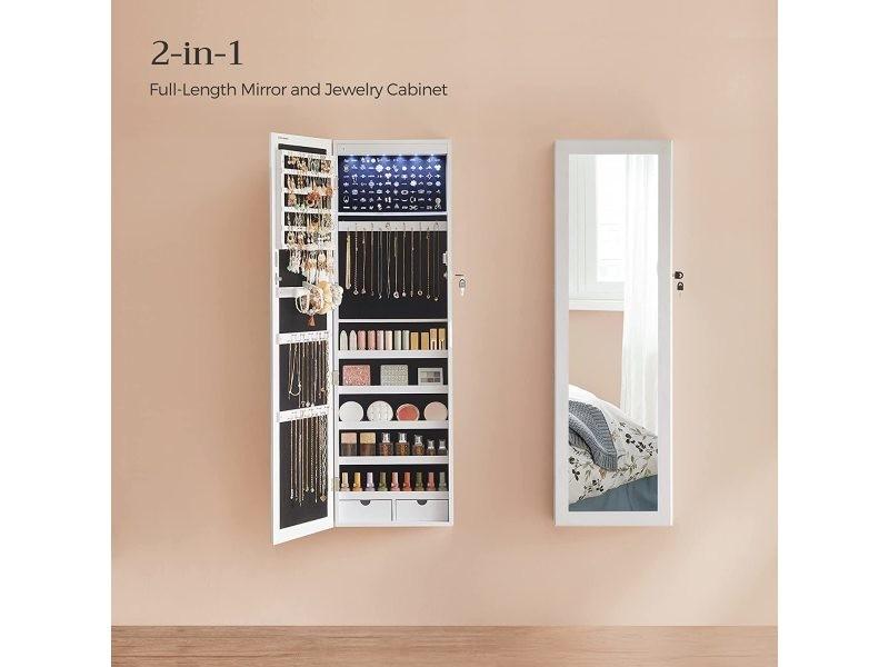 Led armoire à bijoux armoire de rangement mural armoire ...
