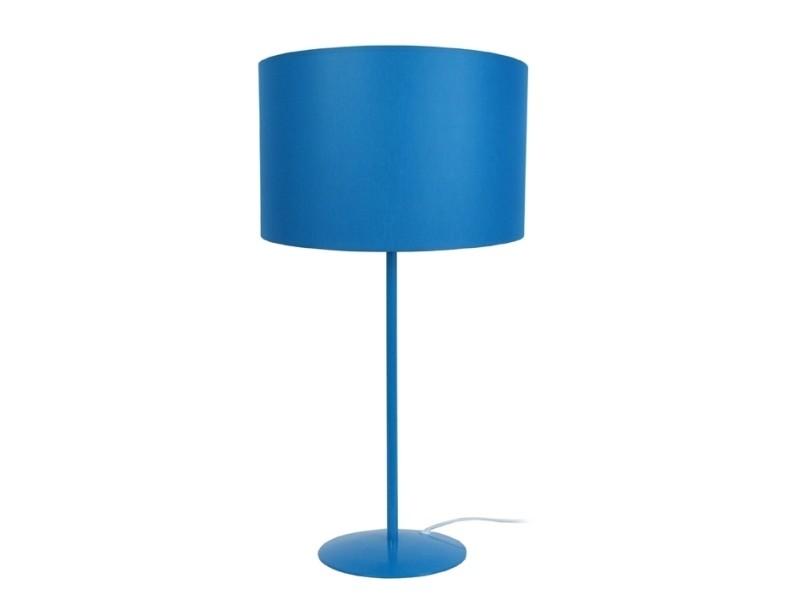 Alfena 30x30x58 Vente Rond Cm De Tosel A Lampe Poser Bleu SUzVpMqG
