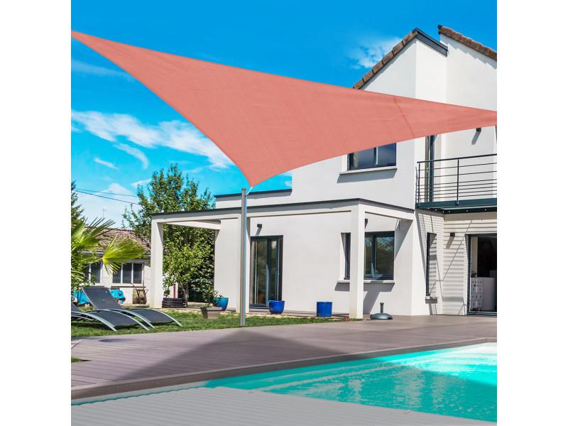 Voile d\'ombrage triangulaire grande taille 6 x 6 x 6 m polyéthylène ...