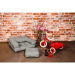 Fauteuil enfant cube 3 en 1 futon gris couchage 60*135*12cm