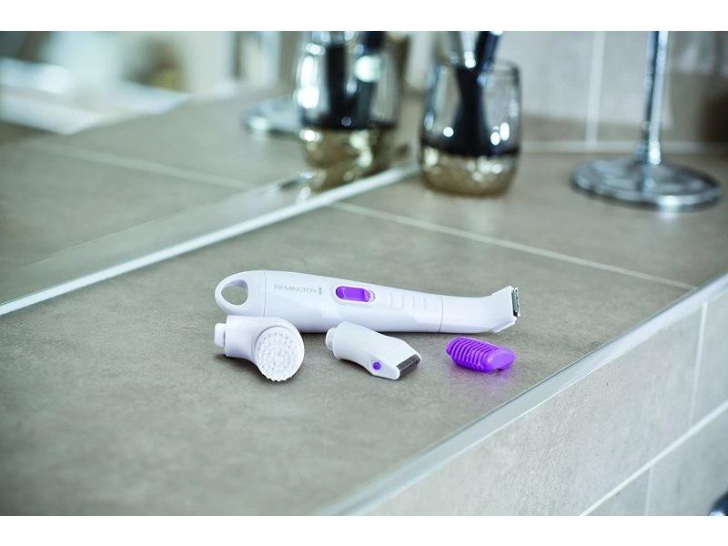Rasoir electrique multifonctions corps tête tondeuse violet blanc
