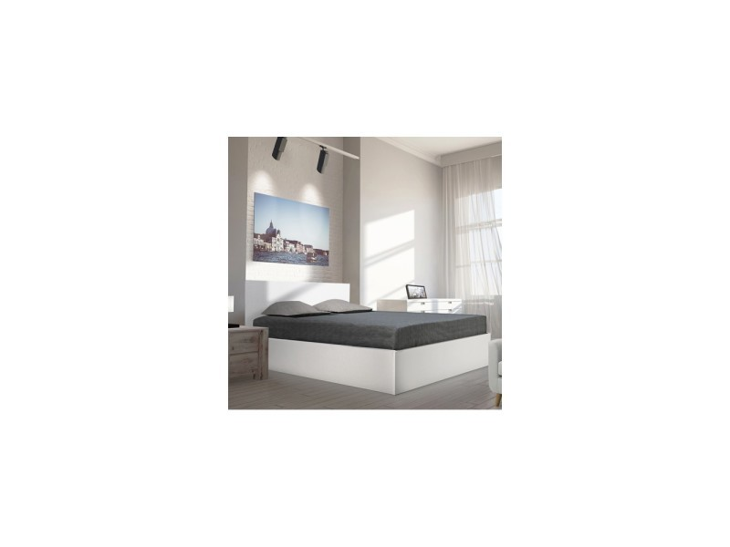 lit coffre madrid 160x200 1 sommier blanc vente de lit adulte conforama. Black Bedroom Furniture Sets. Home Design Ideas