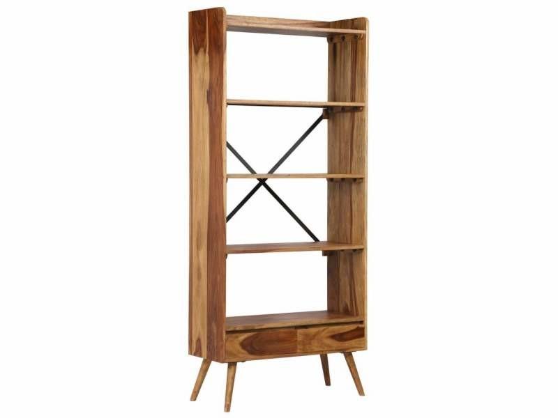 Étagère armoire meuble design bibliothèque bois massif de sesham 170 cm helloshop26 2702044/2