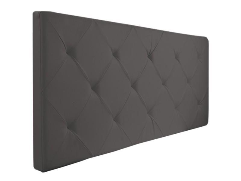 t te de lit capitonn e pvc gris 160x58 cm vente de id. Black Bedroom Furniture Sets. Home Design Ideas