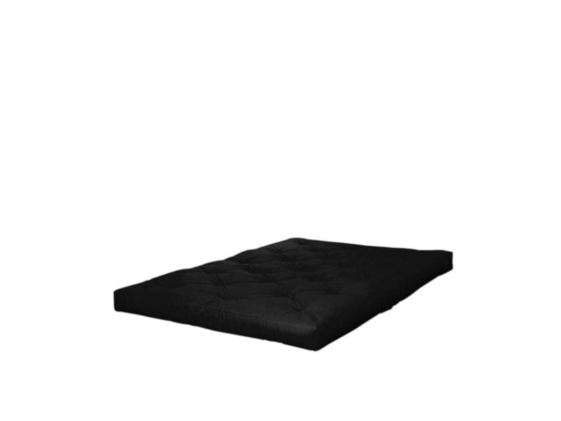 Matelas futon noir 15 cm comfort 90x200