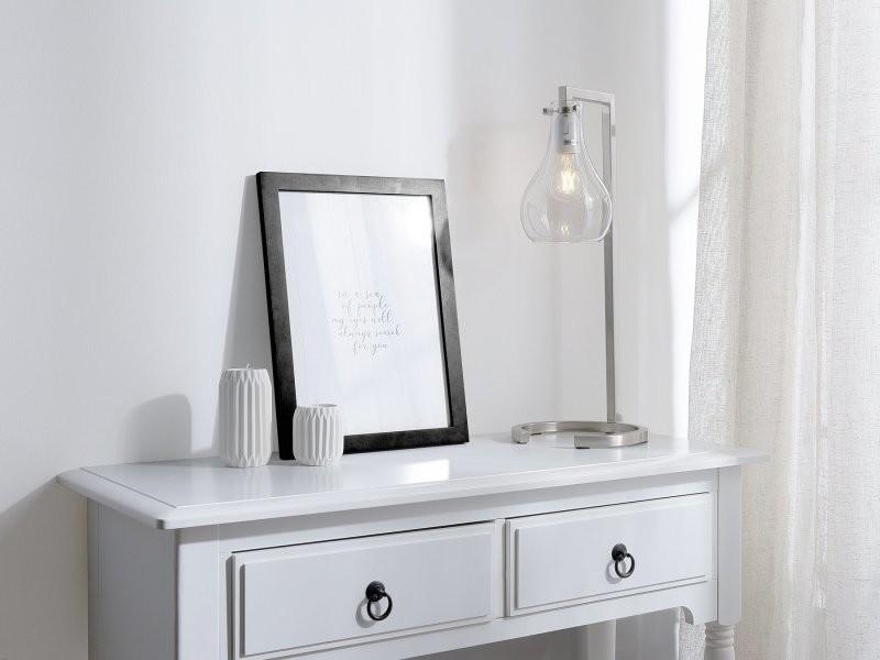 Conforama De Beliani Qrdshxtc Argentée 84423 Vente Lampe Table Goulburn 1JTcFlK