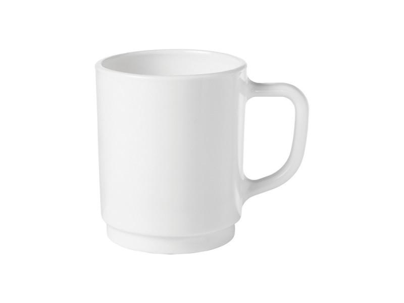 Mug empilable toledo - lot de 12 - 340 ml - stalgast - 8 cm verre trempé 34 cl