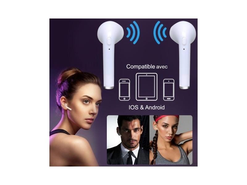 Set 2 ecouteurs sans fil bluetooth pour smartphone