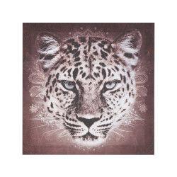 Toile imprimée animaux - 28 x 28 cm - léopard