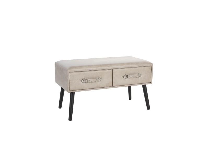 Table basse en simili-cuir beige amtrak 124346